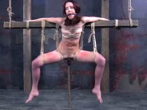 Masturbating female slave